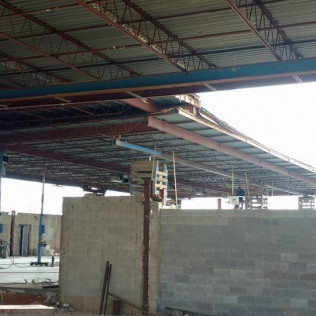 Roof raise in progress - new Grocery store inside shot - Sayreville, NJ